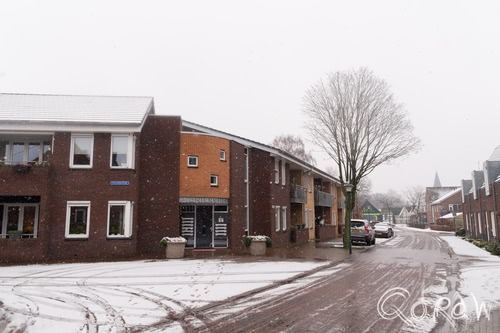 Twello Centrum in de Sneeuw (2016) ; spiegelstraat, ijsselstraat, pioneershof | foto 5