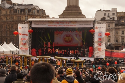 Chinees Nieuwjaar Londen (2017) ; Trafalgar Square, Chinese New Year, London | foto 7