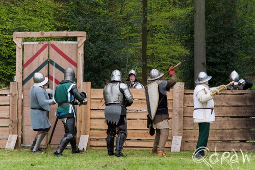 Middeleeuws Festijn Cannenburch (2017) ; ridders, Middeleeuws Festijn Cannenburch, Middle Ages Reenactment | foto 10
