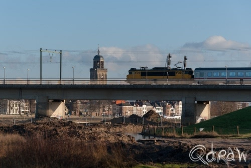 Uiterwaarden Deventer 2014 ns 1757, intercity, ns, brug, deventer | foto 5