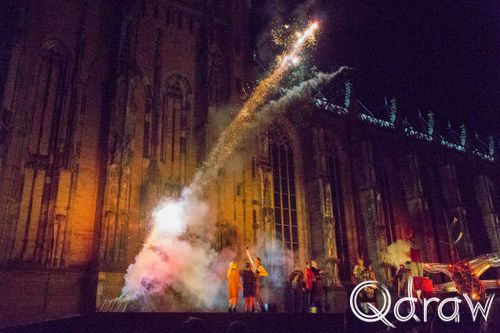 Deventer op Stelten 2017 Theater Titanick - Firebirds; Theater Titanick, Firebirds, vliegmachines, vuurwerk, deventer op stelten